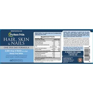Puritan's Pride Hair Skin Nails One Per Day Formula60 Softgels, 60 Count for $15