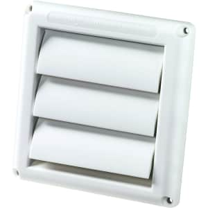 """Deflecto Supurr-Vent 4"""" Louvered Dryer Vent Cover for $4"""
