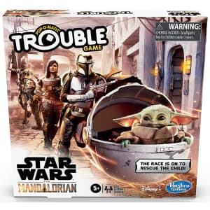 Hasbro Star Wars The Mandalorian Edition Trouble Board Game for $12