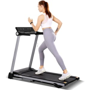 MaxKare Foldable Electric Treadmill for $150