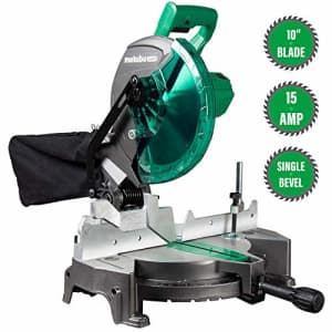 """Metabo-HPT C10FCGSM 15-Amp 10"""" Compound Single Bevel Miter Saw (Renewed) for $95"""