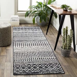 """Artistic Weavers Chester Charcoal and Ivory Bohemian/Global 2'7"""" x 7'6"""" Area Rug, Black for $76"""