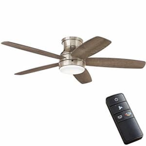 Home Decorators Collection Ashby Park 52 in. Integrated LED Brushed Nickel Ceiling Fan with Light for $153