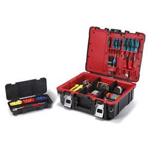 Keter Resin Technician Portable Tool Box Organizer with Cushioned Dividers for Small Parts and for $47
