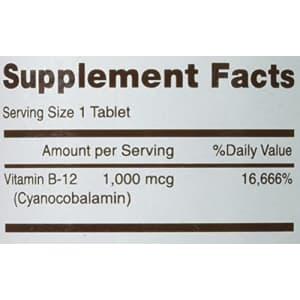 Mason Vitamins B 12 1000 mcg Dissolves Under Tongue Tablets, 200 Count for $12