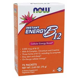 Now Foods Instant Energy B-12, 75 Packets (Pack of 2) for $14