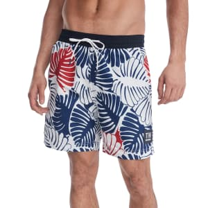 """Tommy Hilfiger Men's Leaf Print 6-1/2"""" Swim Trunks for $15"""
