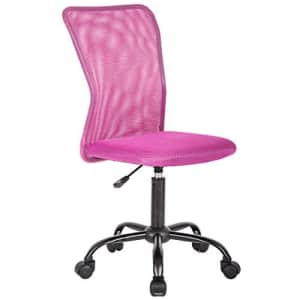 BestMassage Office Chair Cheap Desk Chair Mesh Computer Chair with Lumbar Support No Arms Swivel Rolling for $100