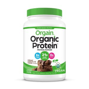 Orgain Organic Plant Based Protein Powder 2-lb. Tub for $15 via Sub & Save
