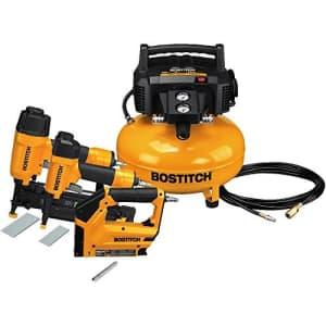 BOSTITCH U/BTFP3KIT 3-Tool and Compressor Combo Kit (Renewed) for $189