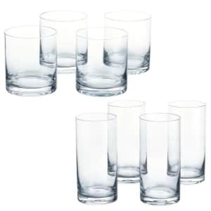 Home Decorators Collection Skylar Ombre Double Old-Fashioned and Highball 8-Piece Glass Set for $14
