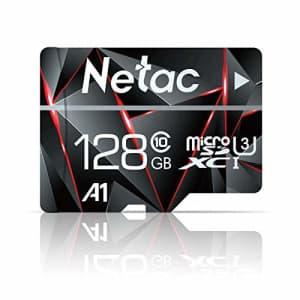128GB Micro SD Card, Netac Memory Card MicroSD High Speed Transfer A1 C10 U3 MicroSDXC TF Card for for $20