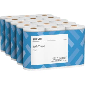 Solimo 2-Ply Toilet Paper 5-Pack for $20