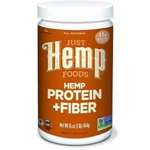 Just Hemp Foods Hemp Protein Powder Plus Fiber, Non-GMO Verified with 11g of Protein & 11g of Fiber for $18