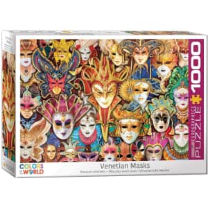 EuroGraphics Venetian Mask 1000-Piece Puzzle for $13