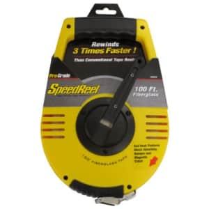 "Pro-Grade 82823 1/2"" x 100' Speedreel Fiberglass Tape Measure for $18"
