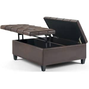 """Simpli Home Harrison 36"""" Wide Square Lift Coffee Table for $250"""