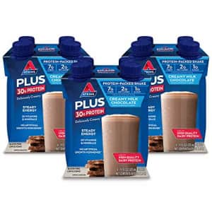 Atkins PLUS Protein-Packed Shake. Creamy Milk Chocolate with 30 Grams of High-Quality Protein. for $25