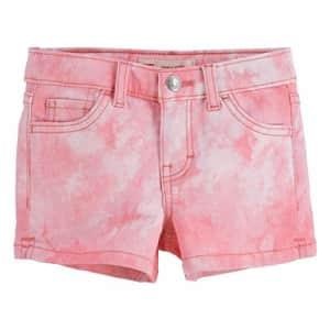 Levi's Girls' Denim Shorty Shorts, Peony, 4 for $8