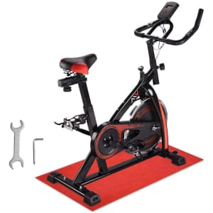 AW Stationary Exercise Bike with Mat for $216