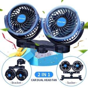 Mitchell 2-In-1 Dual-Head Car Fan Kit for $24