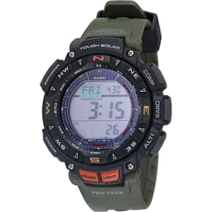 Casio Men's Protrek Triple Sensor Solar Watch for $165