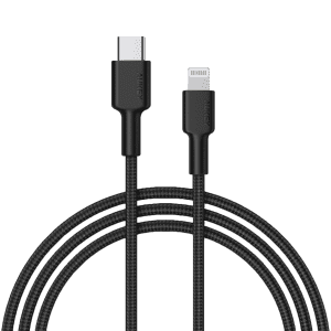 Aukey Impulse Braided USB-C to Lightning Cable for $7