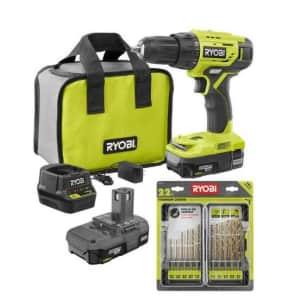 Ryobi ONE+ 18V Drill/Driver Kit for $59