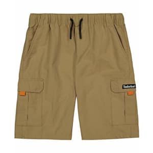 Timberland Boys' Cargo Shorts, Khaki, Large (14/16) for $23
