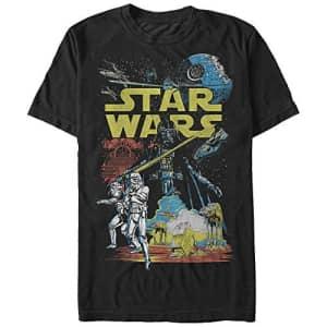 Star Wars Men's Rebel Classic Graphic T-Shirt, Black, 5XL for $20