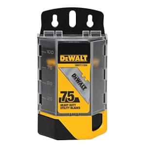 Dewalt DWHT11004 4 Pack 75 Pc. Heavy Duty Utility Blades for $31