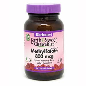 BlueBonnet Earth Sweet Cellular Active Methylfolate 800 mcg Chewable Tablets, 90 Count for $17
