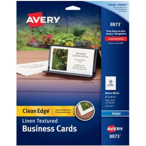 Avery Clean Edge Printable Business Cards 200-Pack for $14