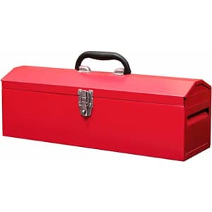 """BIG RED TB101 Torin 19"""" Hip Roof Style Portable Steel Tool Box with Metal Latch Closure and for $34"""