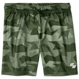 The Children's Place Boys' Camo Print Drawstring Shorts, Greenwich, XL (14) for $10