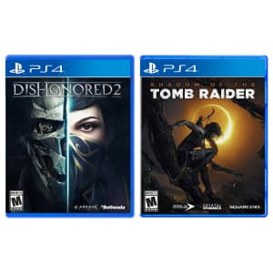 Dishonored 2 & Shadow of the Tomb Raider Bundle for PS4 / Xbox One for $20