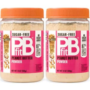 PBFit 13-oz. Sugar-Free Peanut Butter Powder 2-Pack for $10.28 w/ Sub. & Save