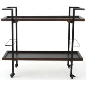 Christopher Knight Home Gerard Industrial Wooden Bar Cart for $128
