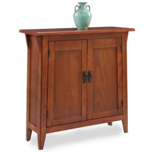 Leick Home Mission Solid Wood Hall Stand Cabinet for $181
