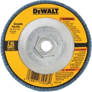 """DeWalt 4-1/2"""" x 7/8"""" 80-Grit Flap Disc for $3"""
