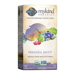Garden of Life Prenatal Vitamins - mykind Organics Prenatal Multi - 90 Tablets, Vegan Whole Food for $38