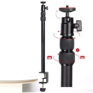 """Regetek 18"""" to 43"""" Desk Mount DSLR Camera Stand for $18"""