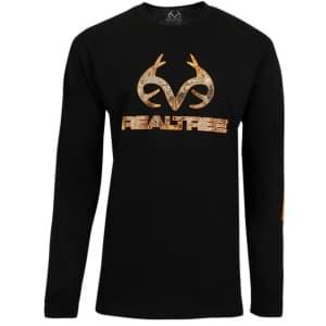 Realtree Men's Long Sleeve Screen Print T-Shirt for $10