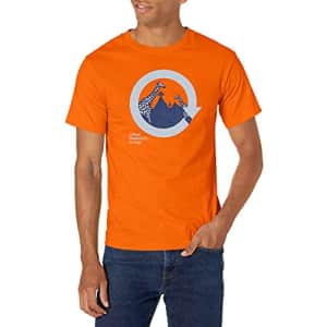 LRG Research Group Men's Graphic Design Logo T-Shirt, Orange Lifted G, S for $12