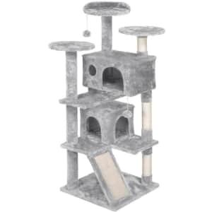 """Yaheetech 54"""" Kitten Tree Tower for $57"""