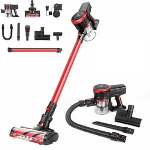 Moosoo 2-in-1 Cordless Stick Vacuum for $100
