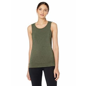 Splendid Women's Activewear Yoga Jersey 2-fer Top, Marled Army, S for $13