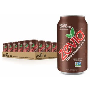 Zevia Zero Calorie Soda Ginger Root Beer 24-Pack for $13