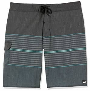 Billabong Men's 20 Inch Outseam Performance Stretch All Day Pro Boardshort, Charcoal, 32 for $50