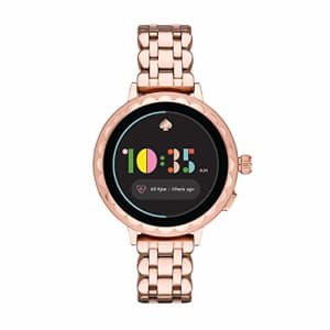 kate spade new york Women's Scallop 2 Touchscreen smartwatch Watch with Stainless Steel Strap, Rose for $254